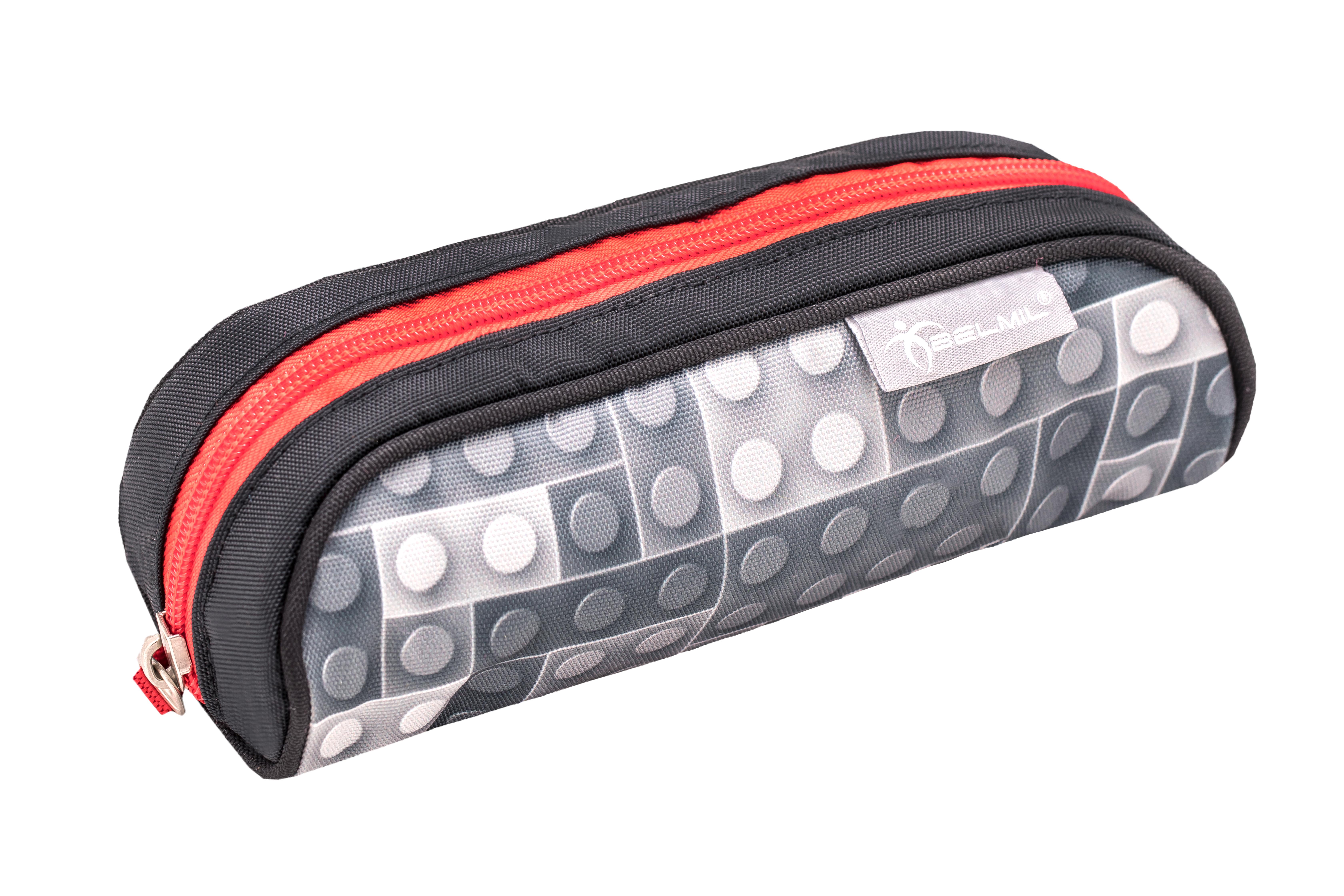 4-tlg. Schulranzenset Smarty 20 Liter - Bricks Grey
