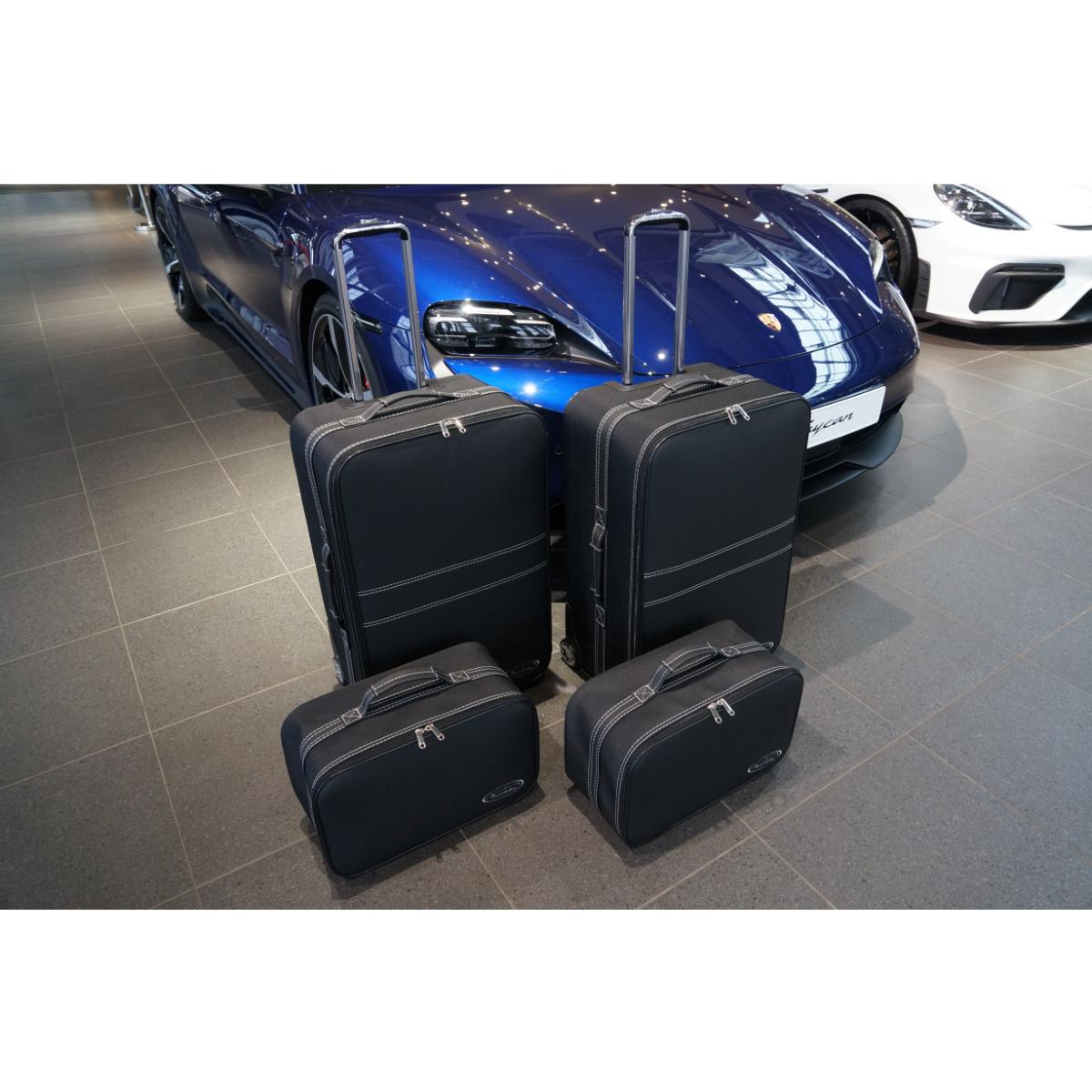 4-tlg. Kofferset Porsche Taycan back (133B) - Leder / Nylon