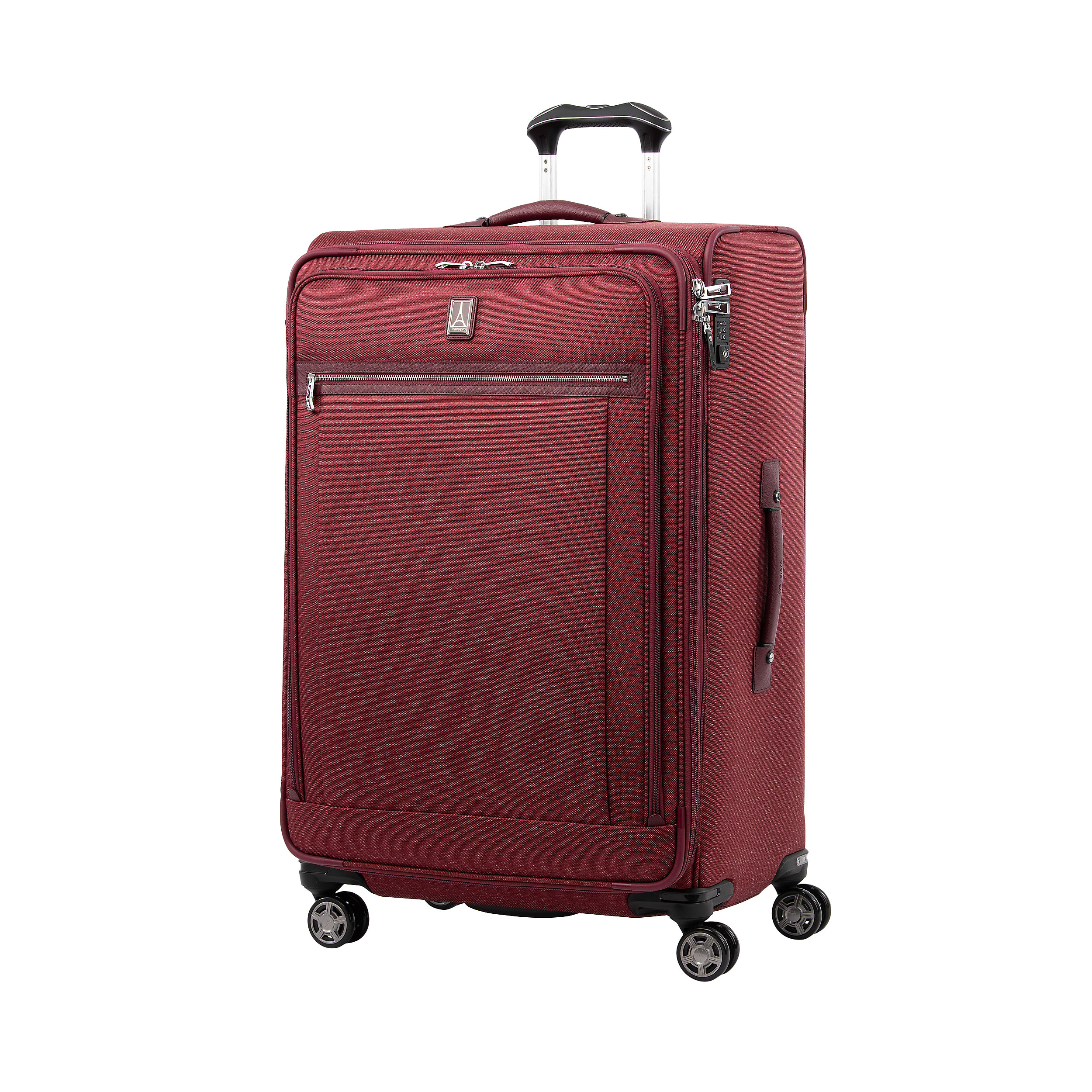 Suitcase with 4 wheels 83 cm Expandable Platinum Elite Extra Large 144 Liter