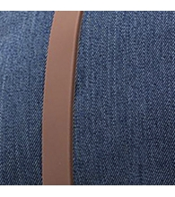 Indigo Denim Crosshatch/Tan Rubber [03537]