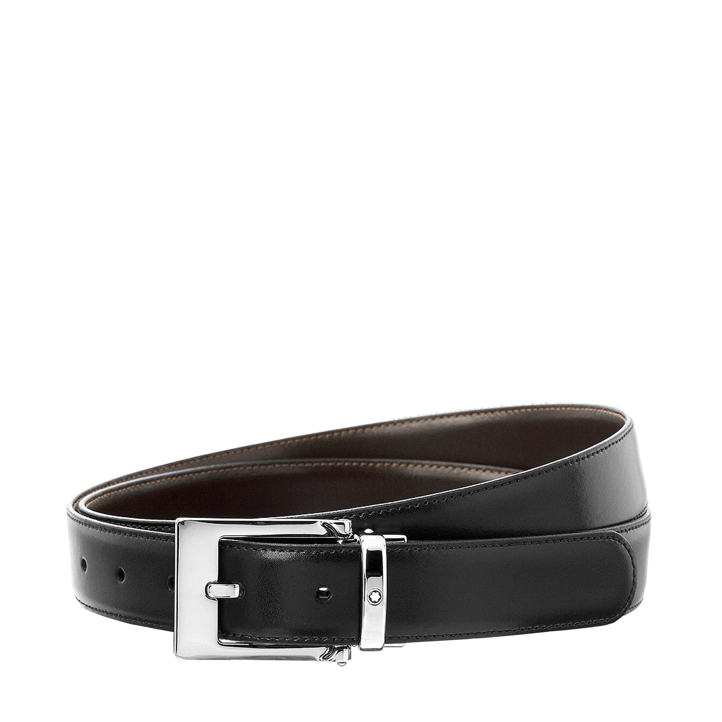 Reversible Business Belt cut-to-size rect. pin buckle Montblanc Belts