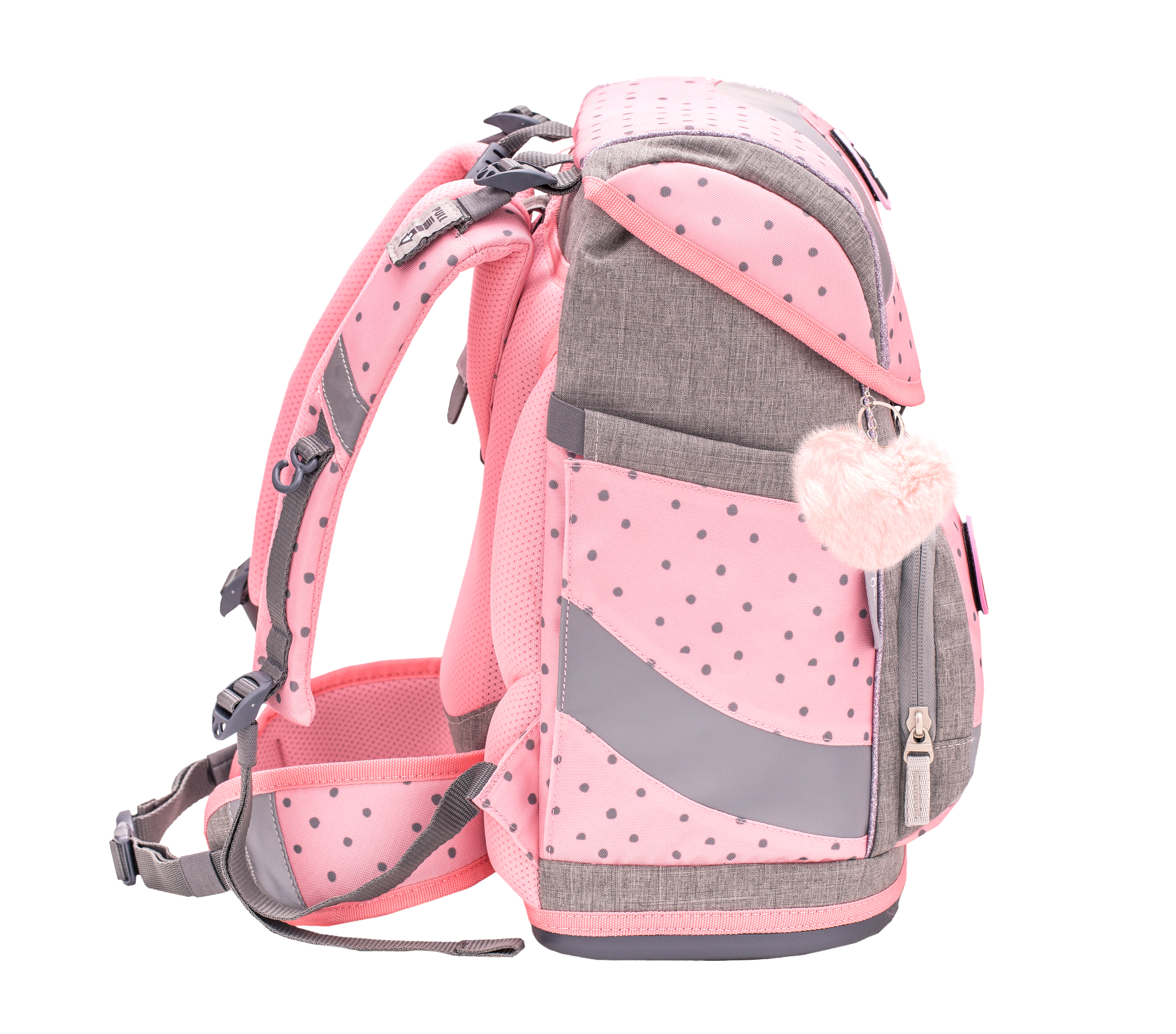 4-tlg. Schulranzenset Smarty 20 Liter - Pink Dots