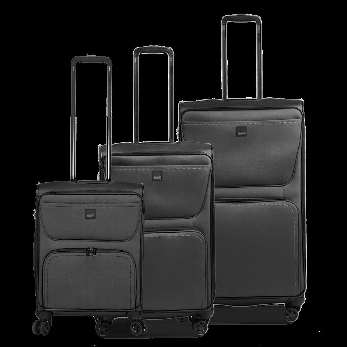 3-tlg. Weichschalen-Kofferset mit 4 Rollen, Bendigo Light