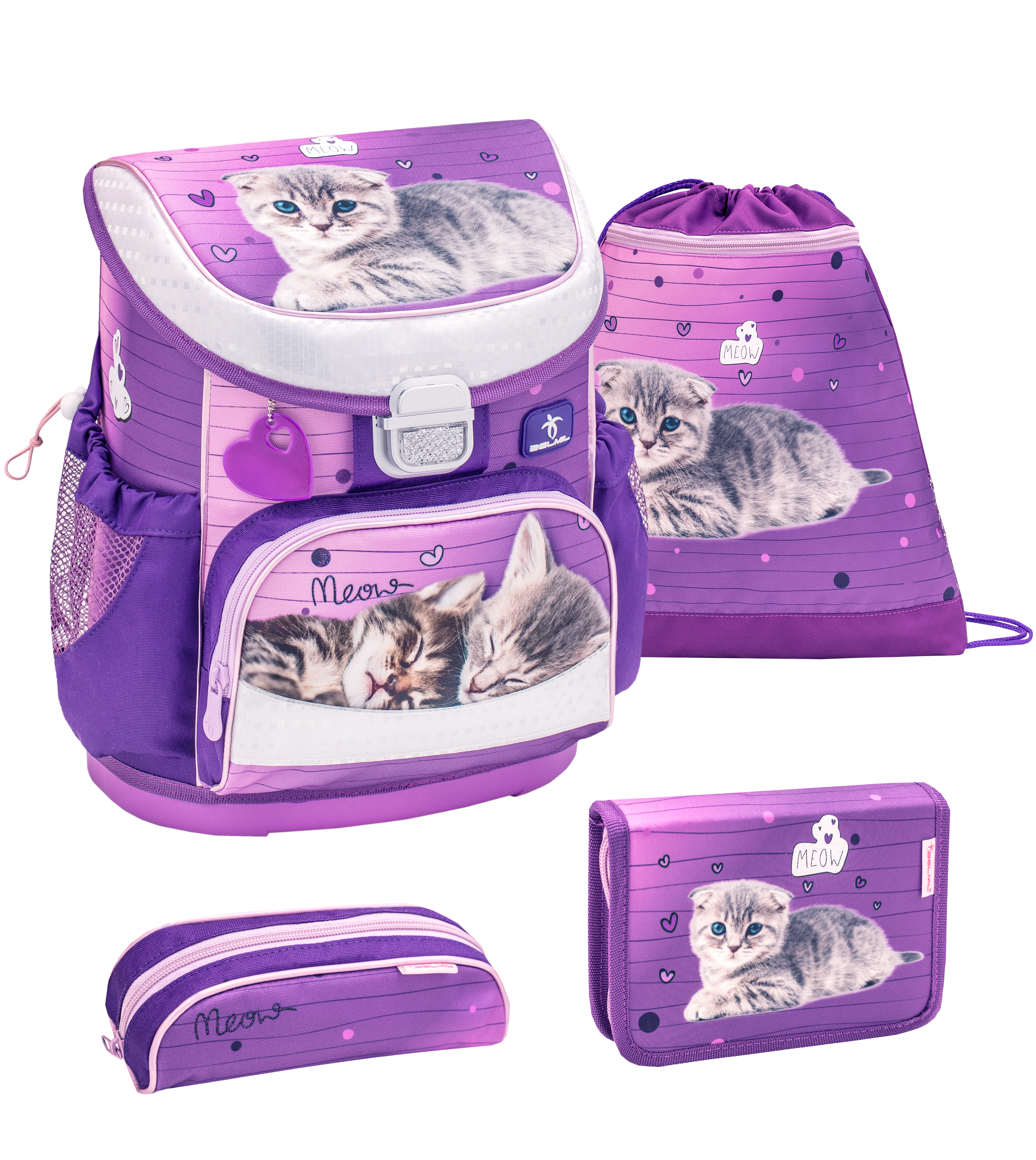 4-tlg. Schulranzenset Mini Fit 17 Liter - Little Caty