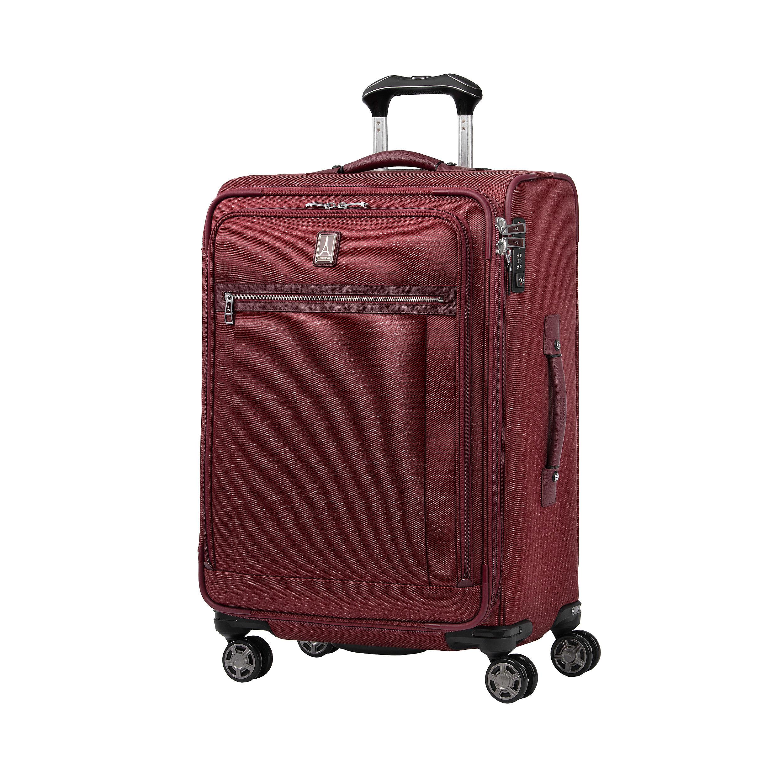 Suitcase with 4 wheels 71 cm Expandable Platinum Elite Large 97 Liter