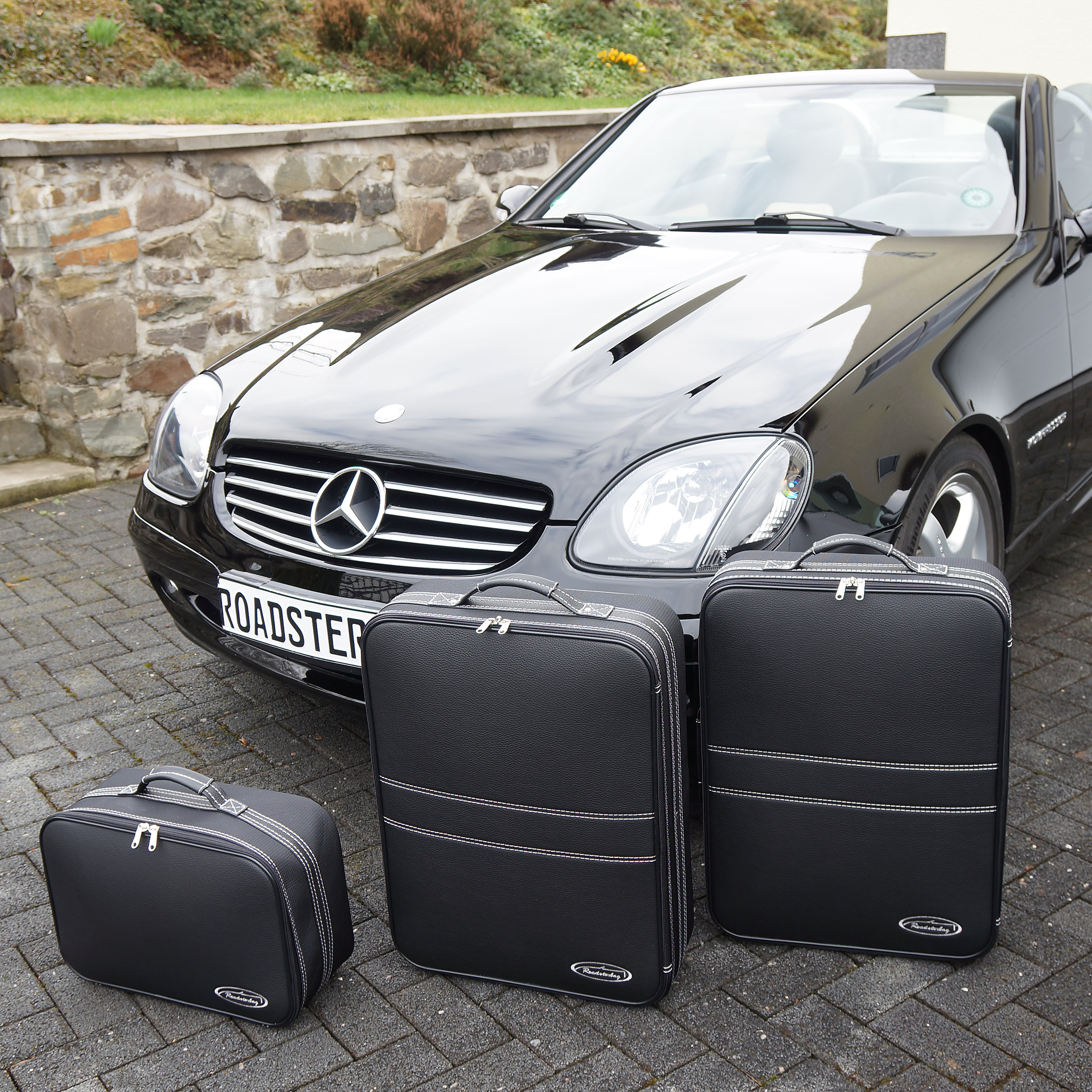 3-tlg. Kofferset Mercedes SLK (R170) 106 Liter