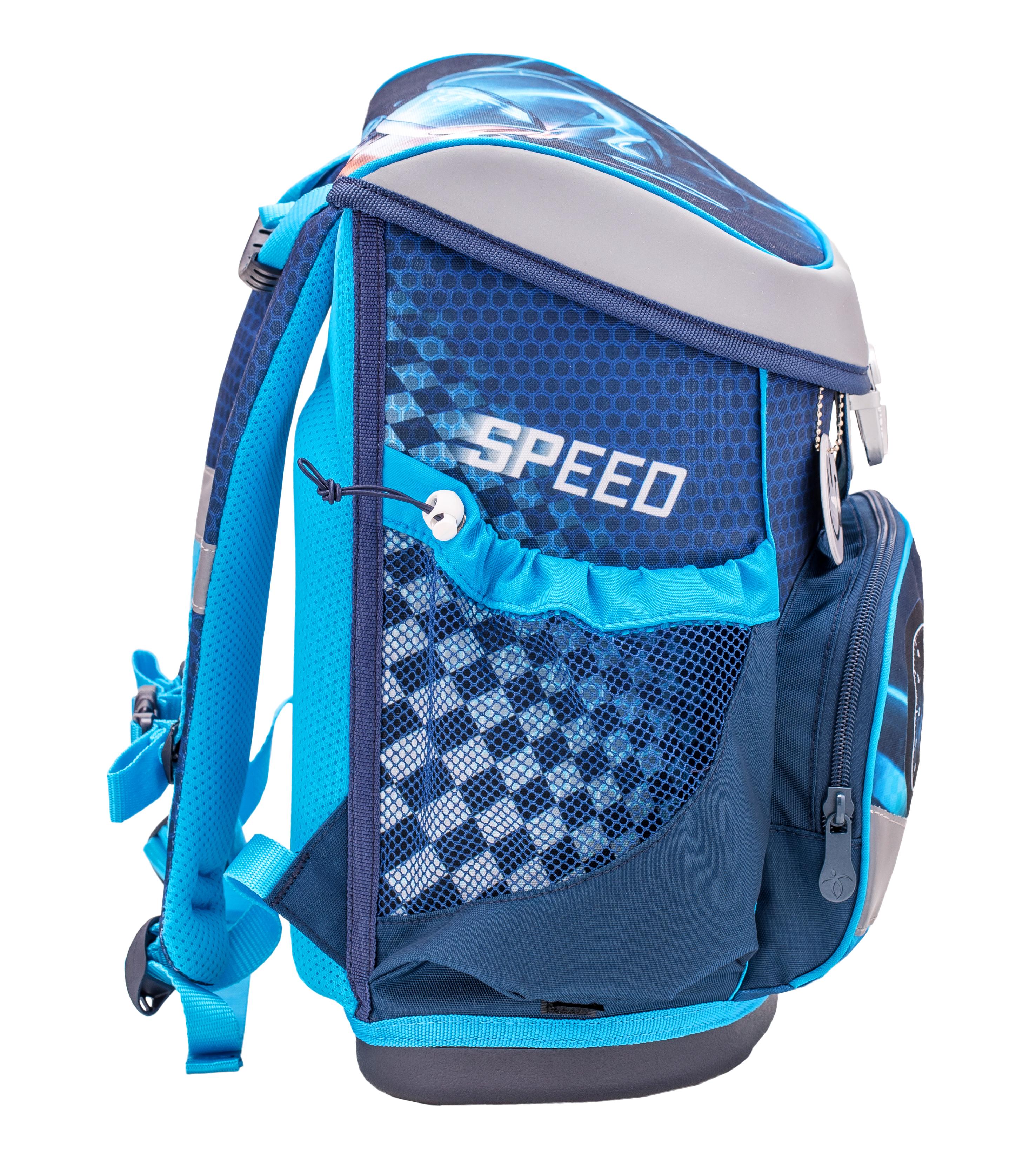 4-tlg. Schulranzenset Mini Fit 17 Liter - Race Blue
