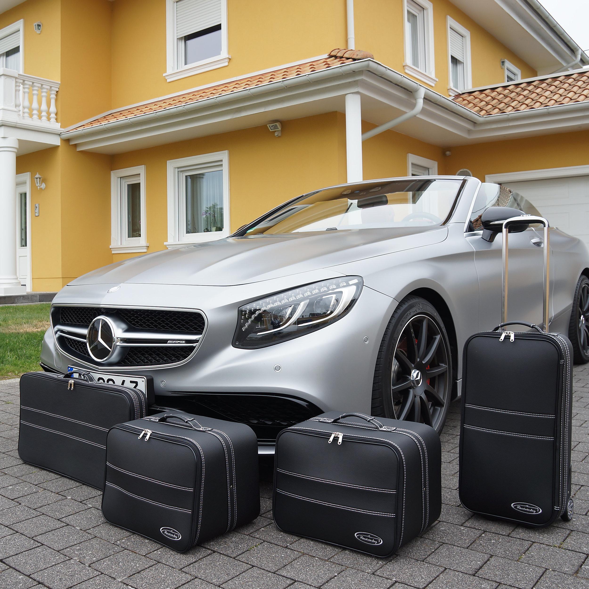 4-tlg. Kofferset mit 2 Rollen Mercedes S-Klasse Cabrio (A217)