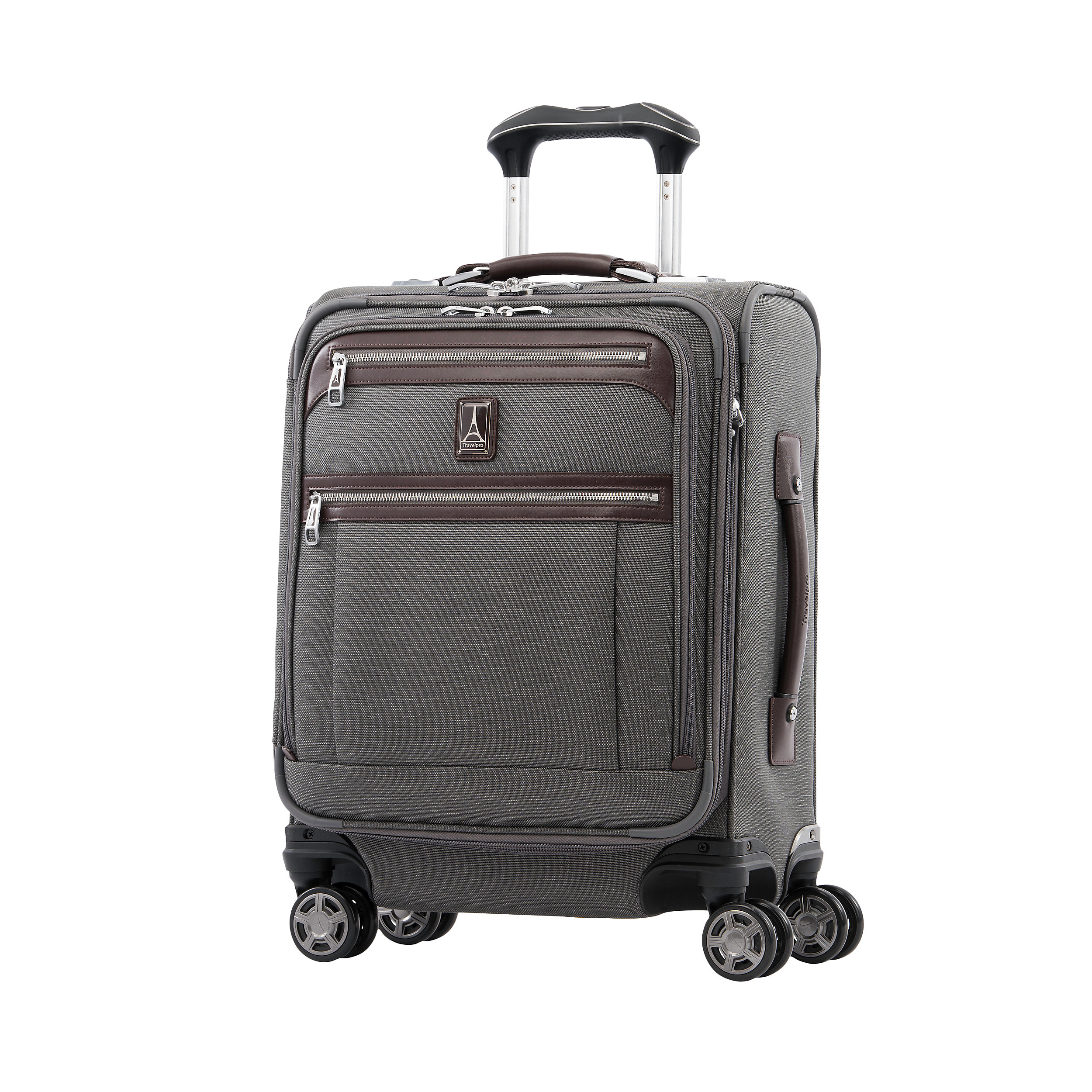 Carry-on with 4 wheels 55 cm with USB port Expandable Platinum Elite Small 39 Liter