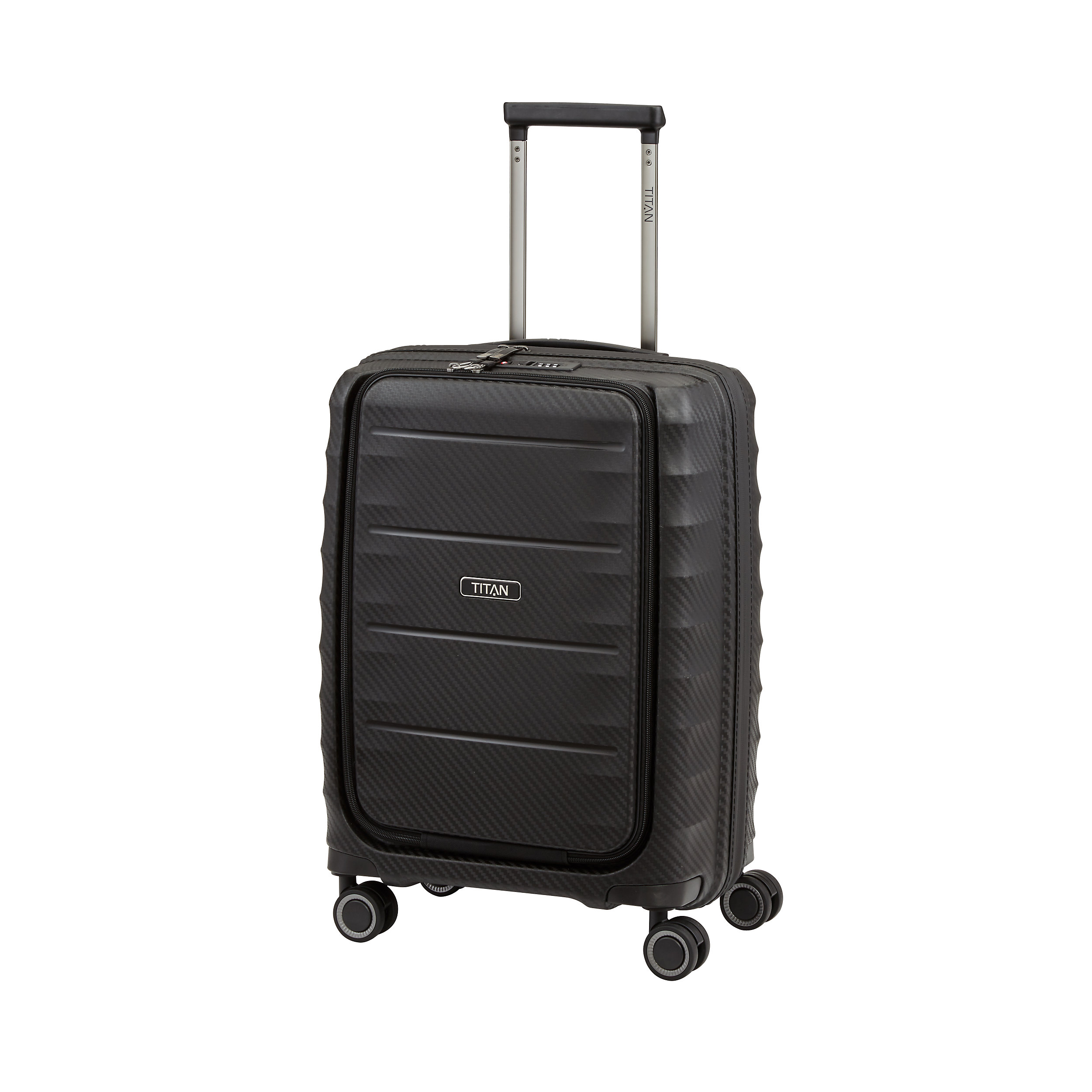 Carry-on with 4 wheels S 55 cm with front pocket Highlight 42 Liter
