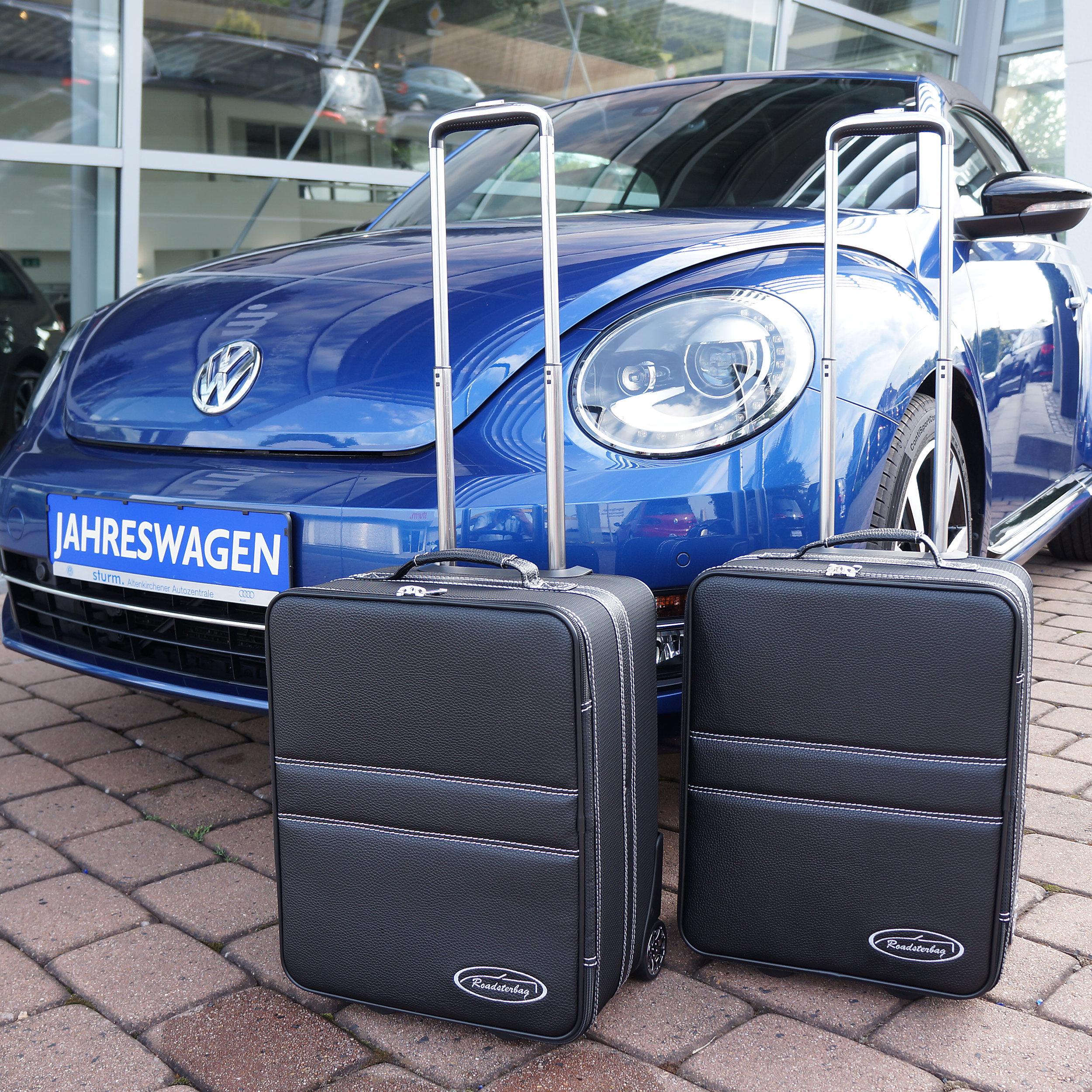2-tlg. Kofferset mit 2 Rollen VW Beetle Cabrio 100 Liter