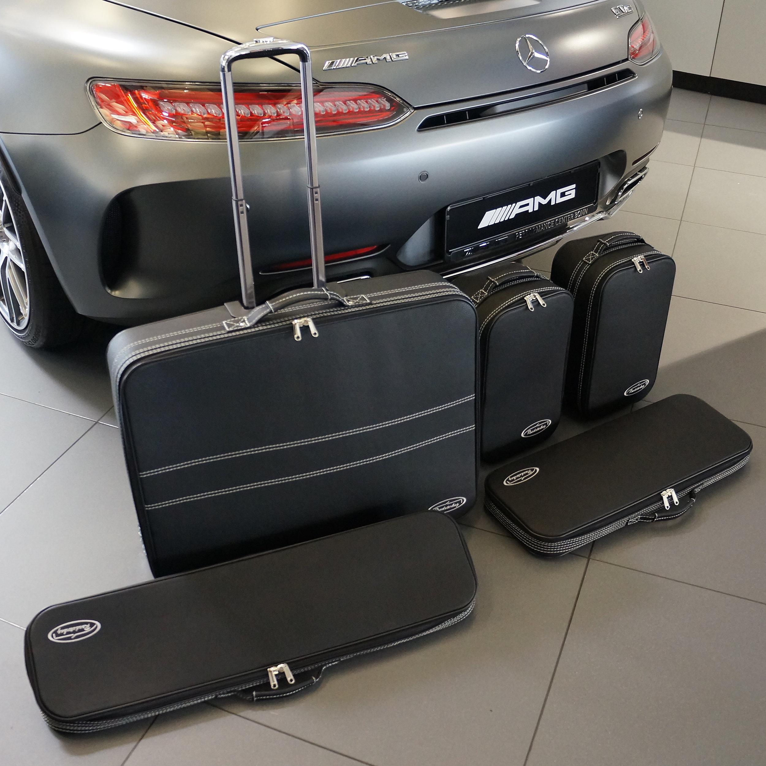 5-tlg. Kofferset mit 2 Rollen Mercedes AMG GT Roadster XXL 101 Liter