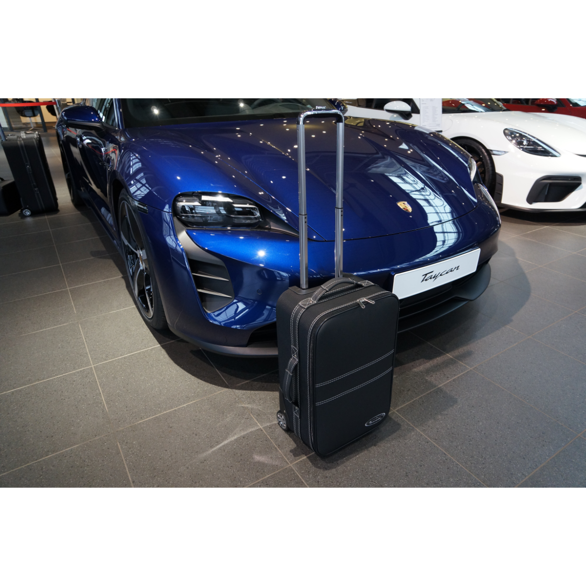 1-tlg. Kofferset Porsche Taycan front (133F) - Leder / Nylon