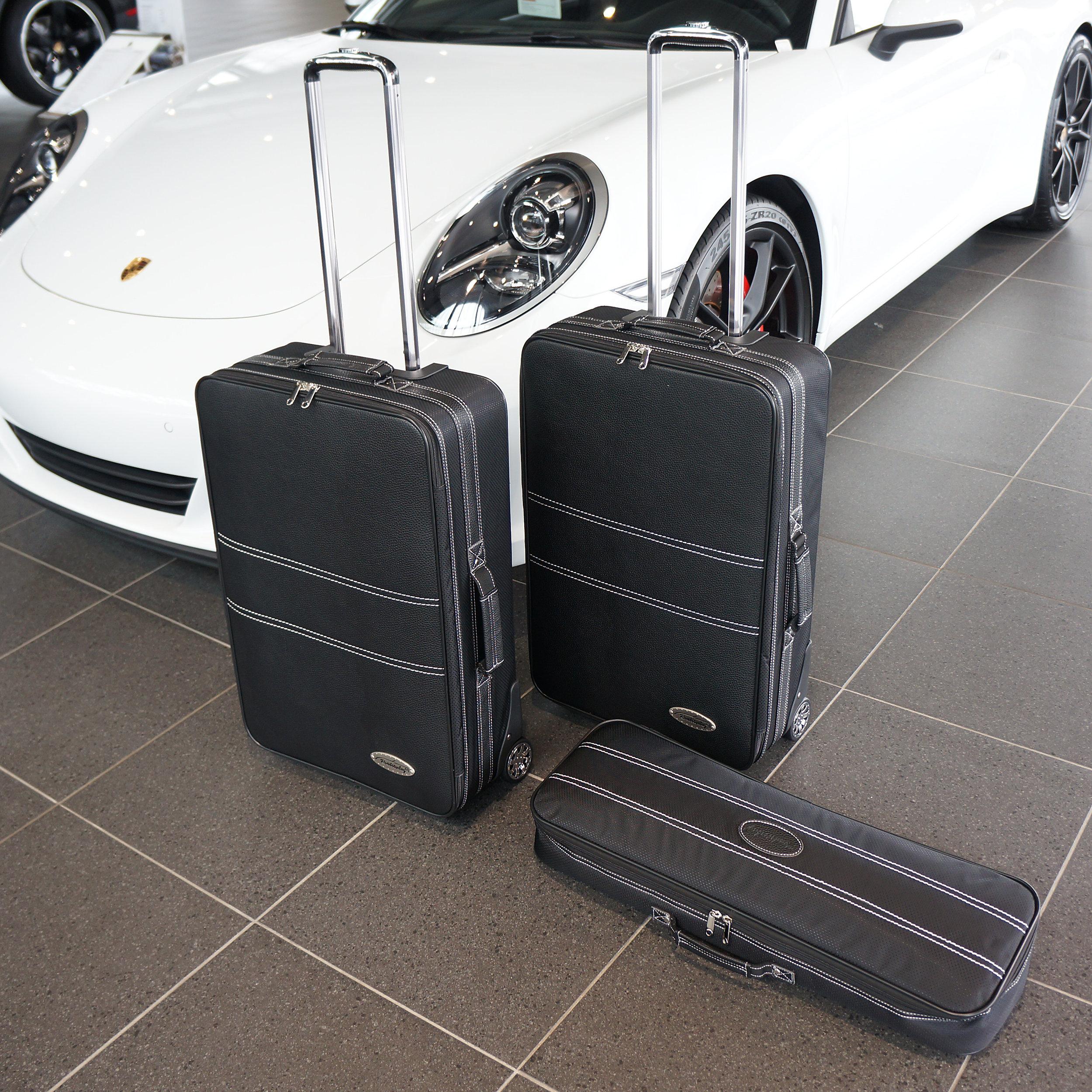 3-tlg. Kofferset mit 2 Rollen Porsche 911 (991) Front 112 Liter