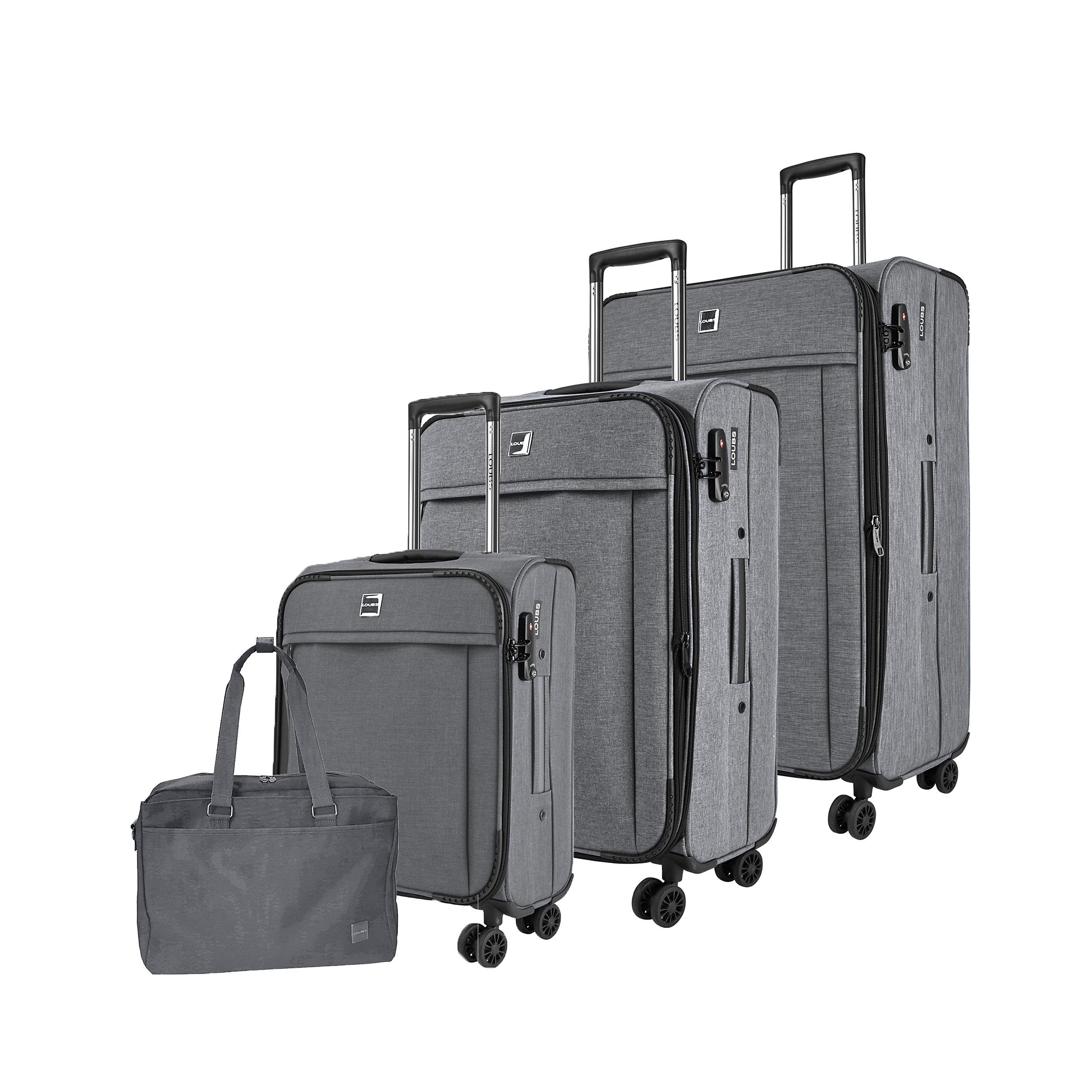 4-tlg. Gepäckset mit 4 Rollen Loubs Darwin XL 223 Liter