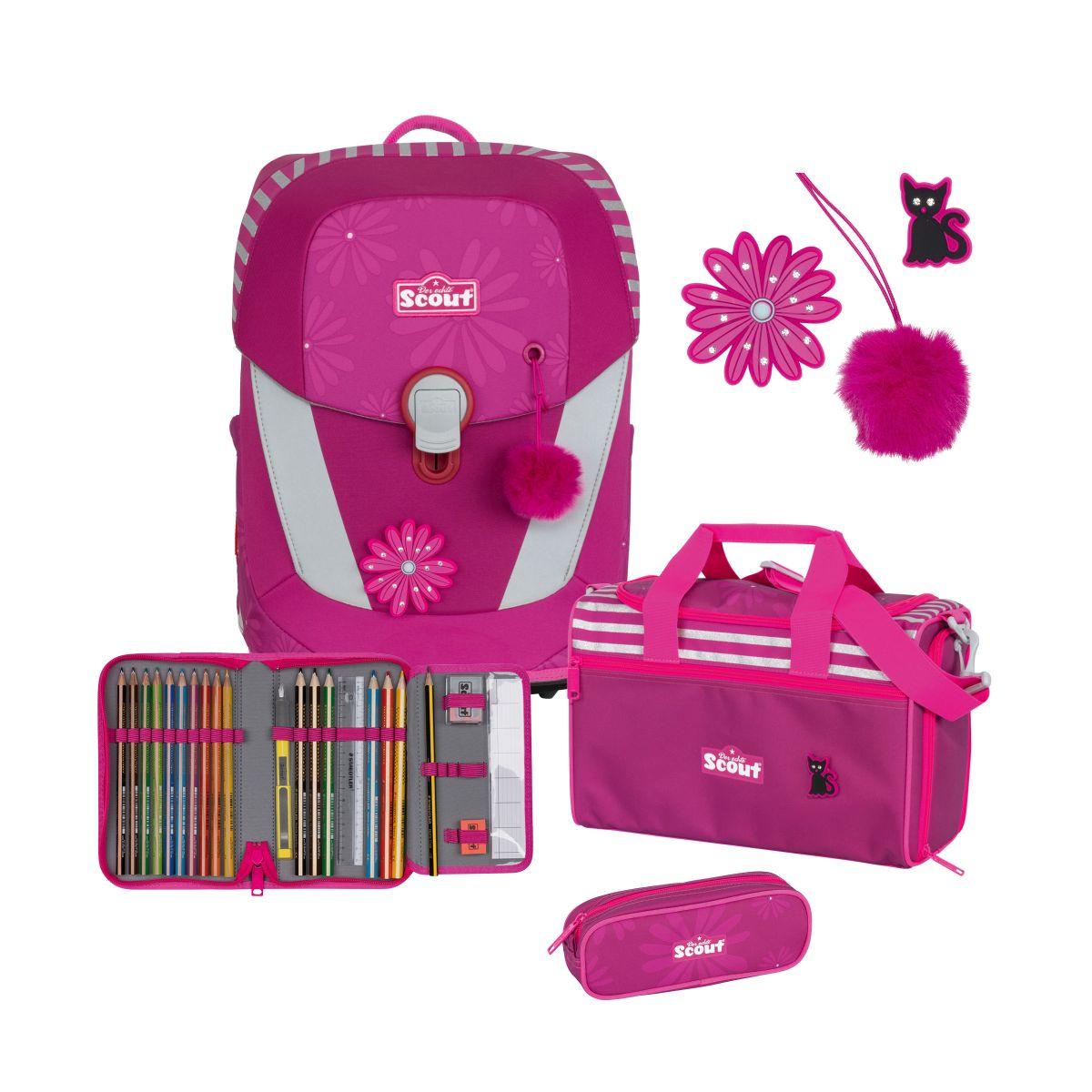 4-tlg. Schulranzenset Limitierte Auflage Sunny II 19.5 Liter - pretty pink