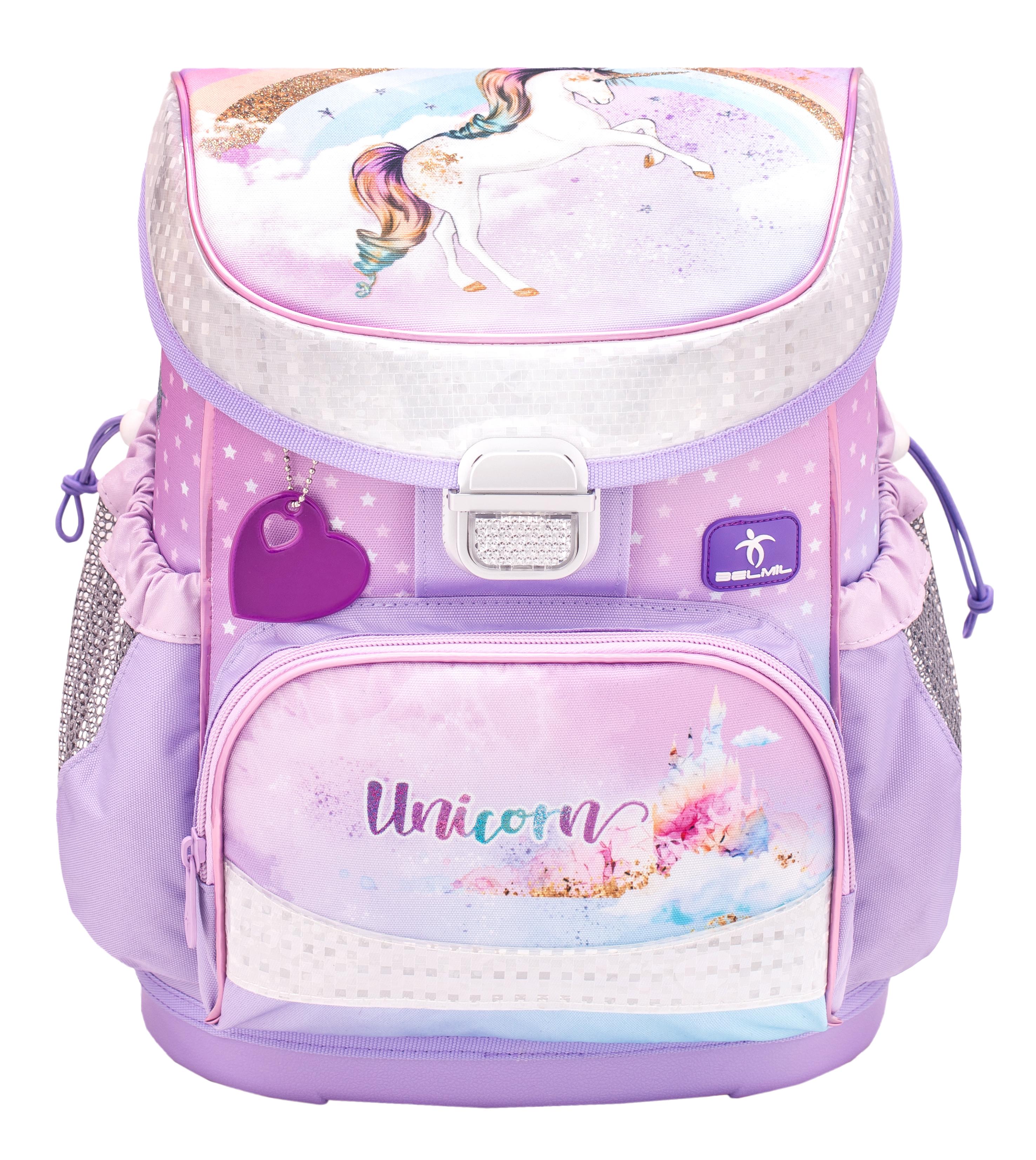 4-tlg. Schulranzenset Mini Fit 17 Liter - Rainbow Unicorn
