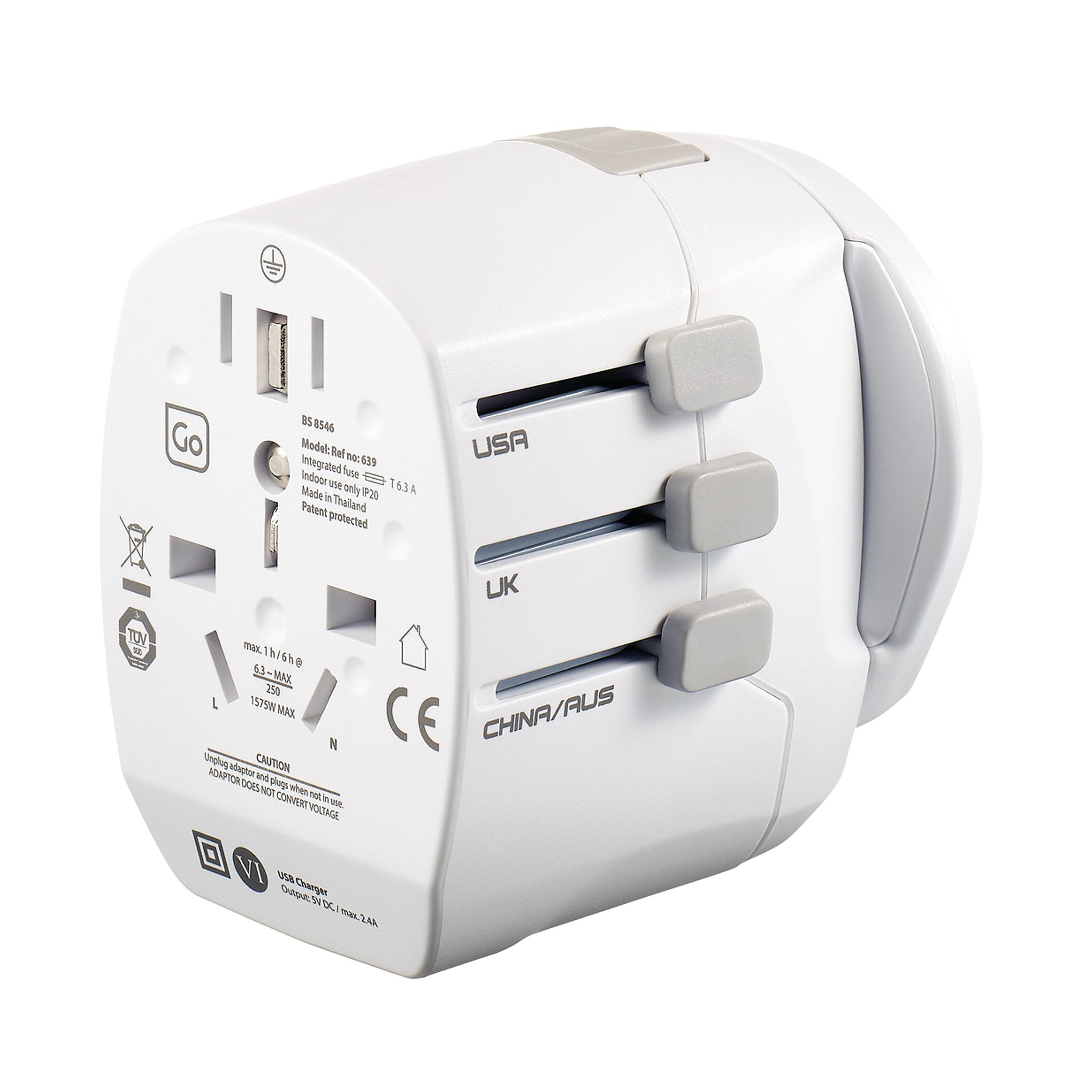 Adaptor worldwide + USB