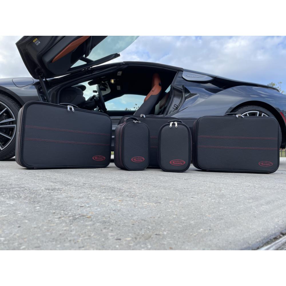 5-tlg. Kofferset mit 2 Rollen BMW i8 Cabrio