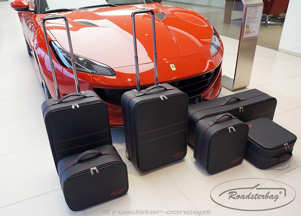 3-part Luggage Set Ferrari Portofino for the trunk 219 Liter