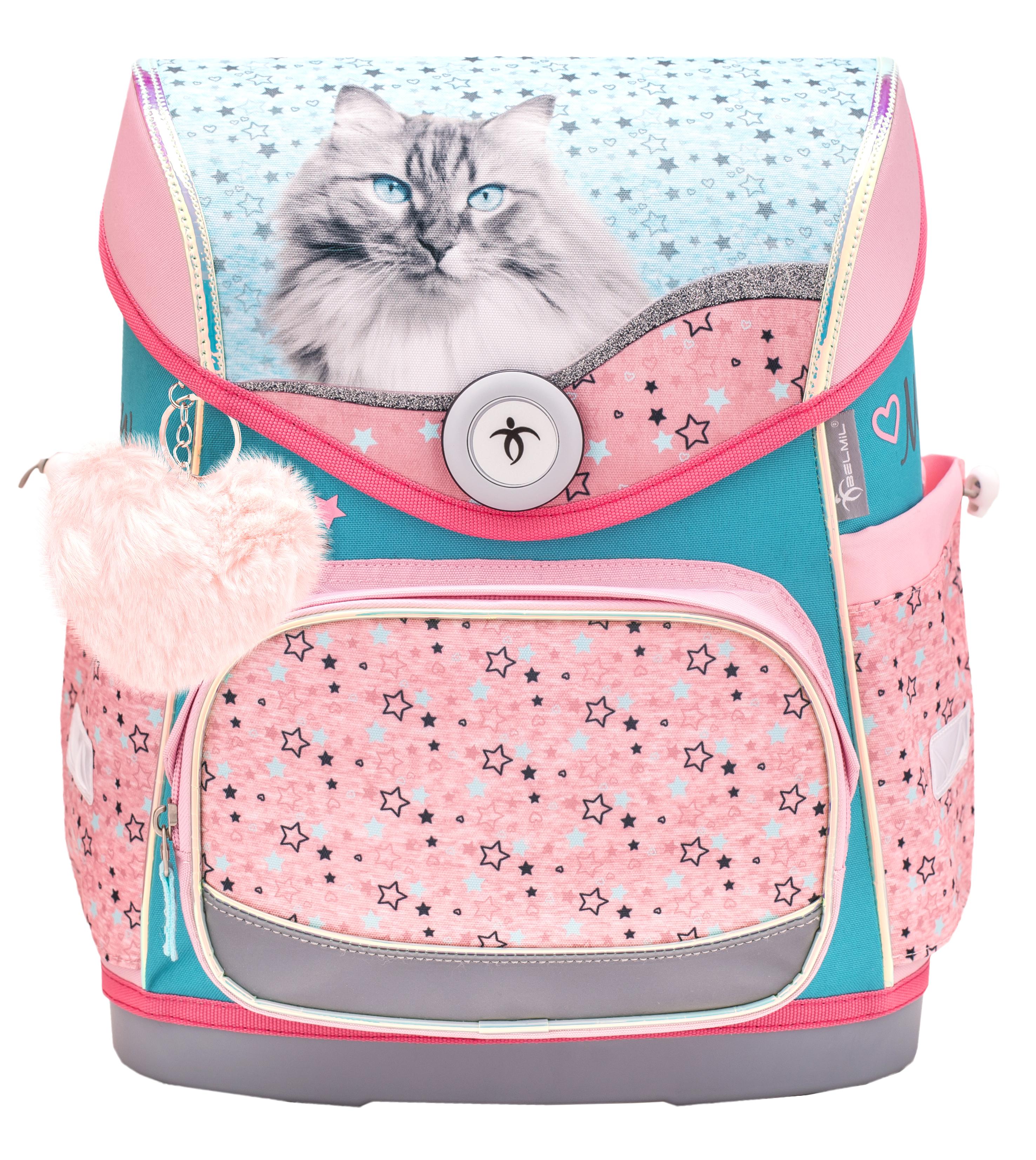 4-tlg. Schulranzenset Compact 19 Liter - Little Friend Meow