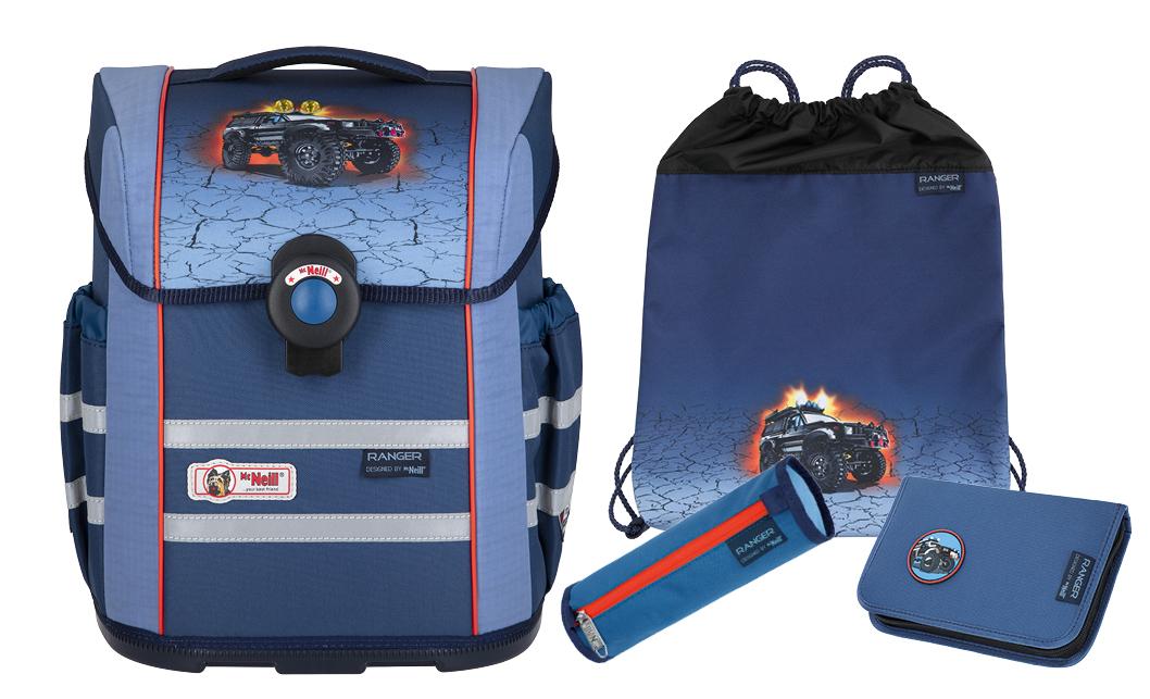 4-tlg. Schulranzenset Ergo Mac 18 Liter - Ranger