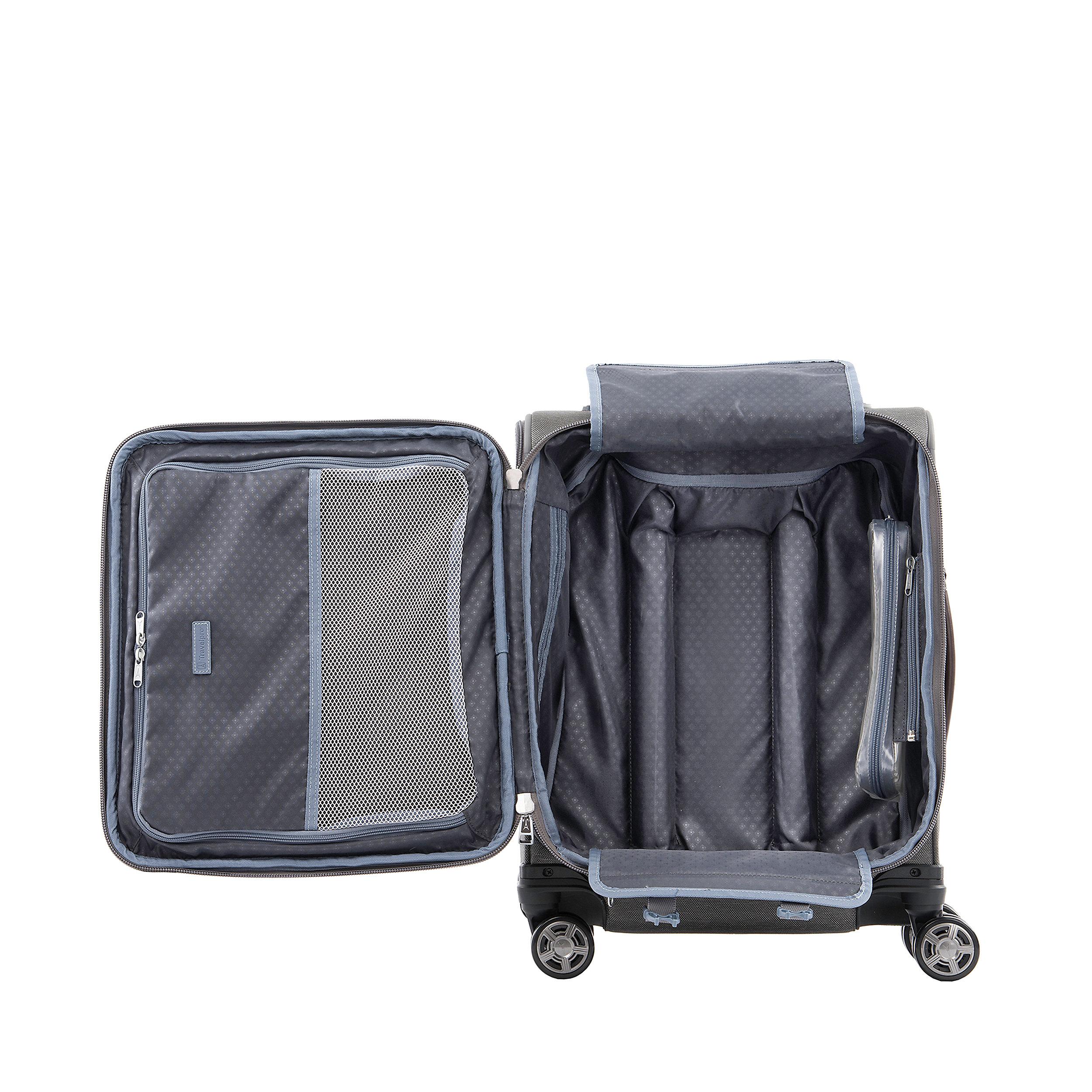 Handgepäcktrolley mit 4 Rollen 55 cm mit USB-Port Erweiterbar Platinum Elite Small 39 Liter