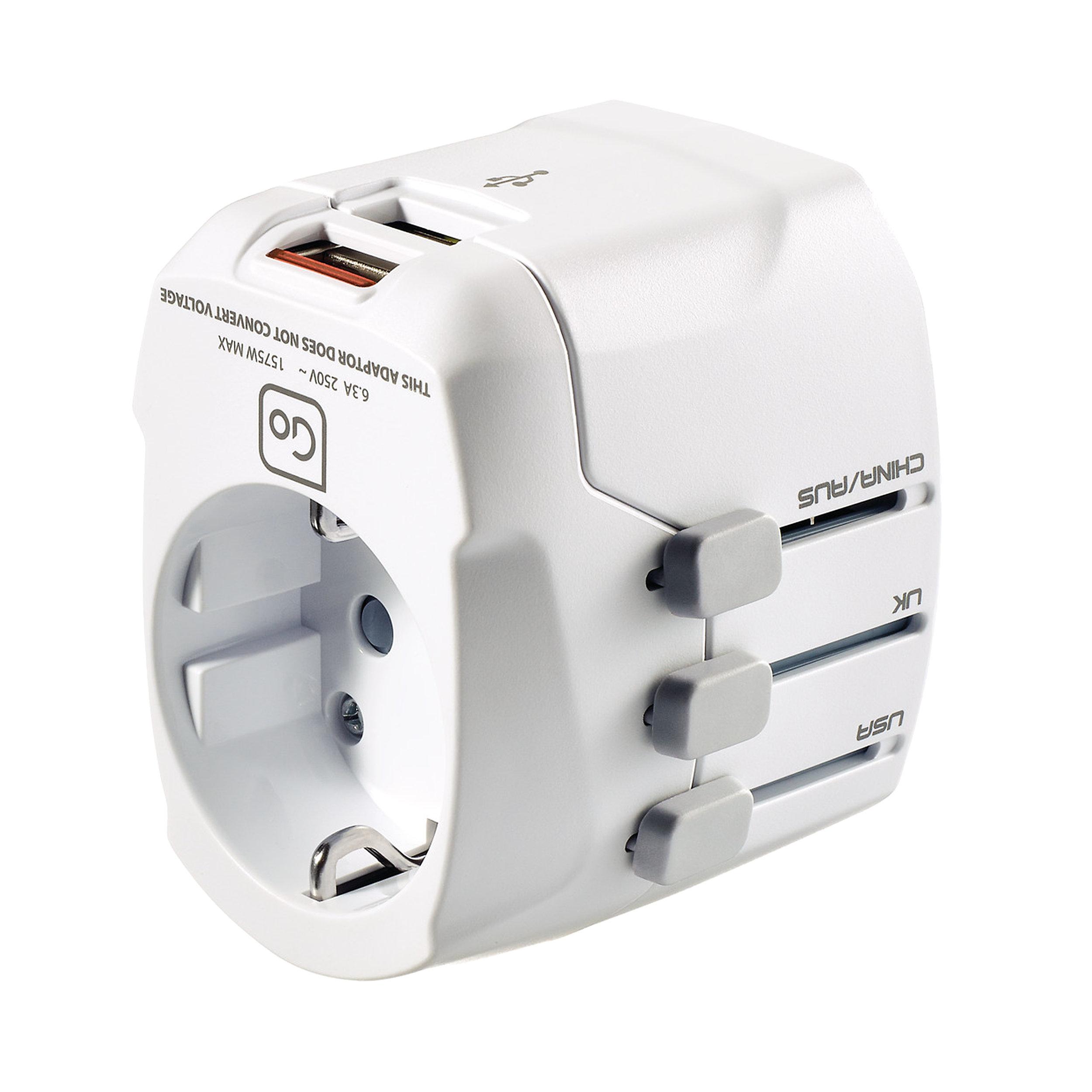 Adapter EU/weltweit + USB