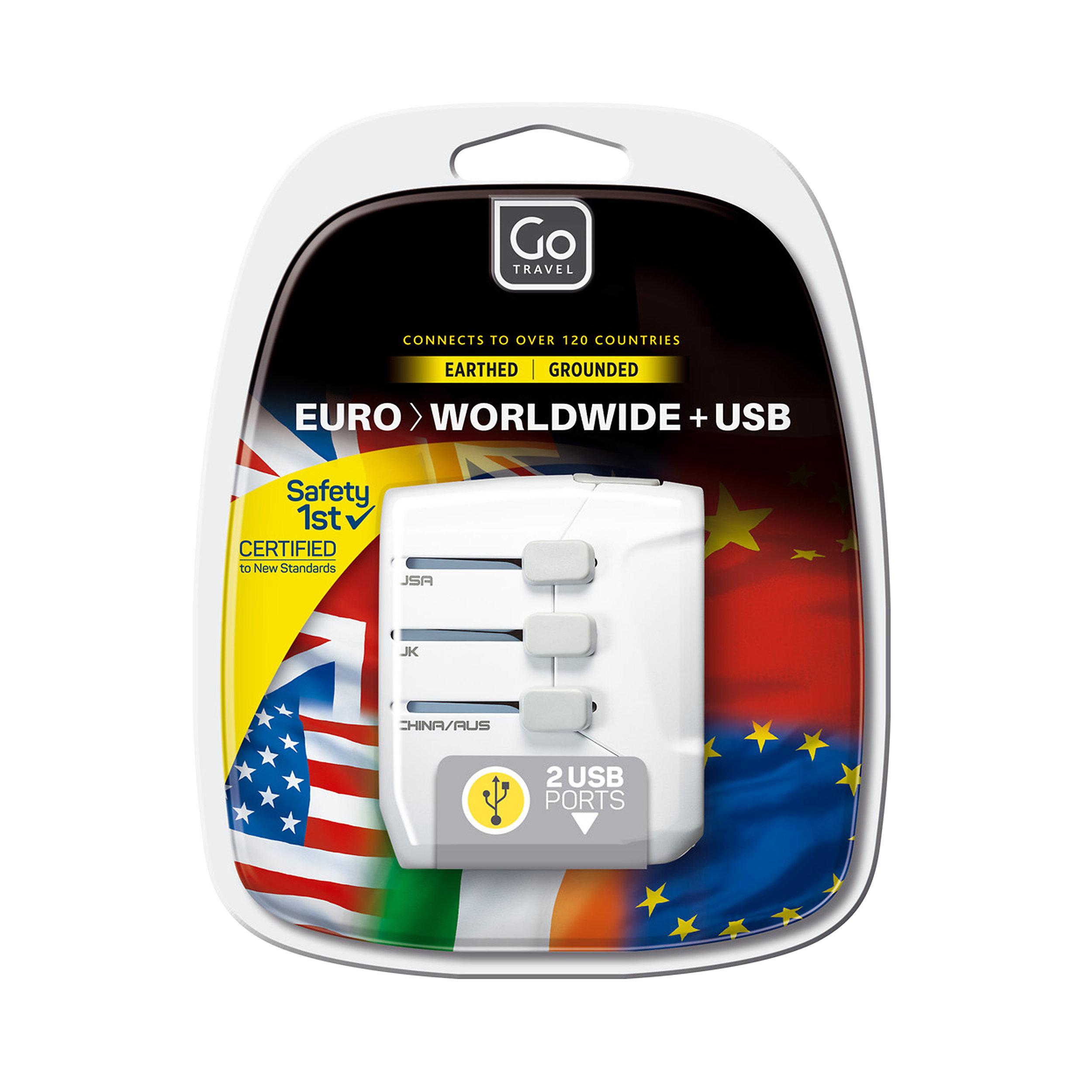 Adaptor EU/worldwide + USB