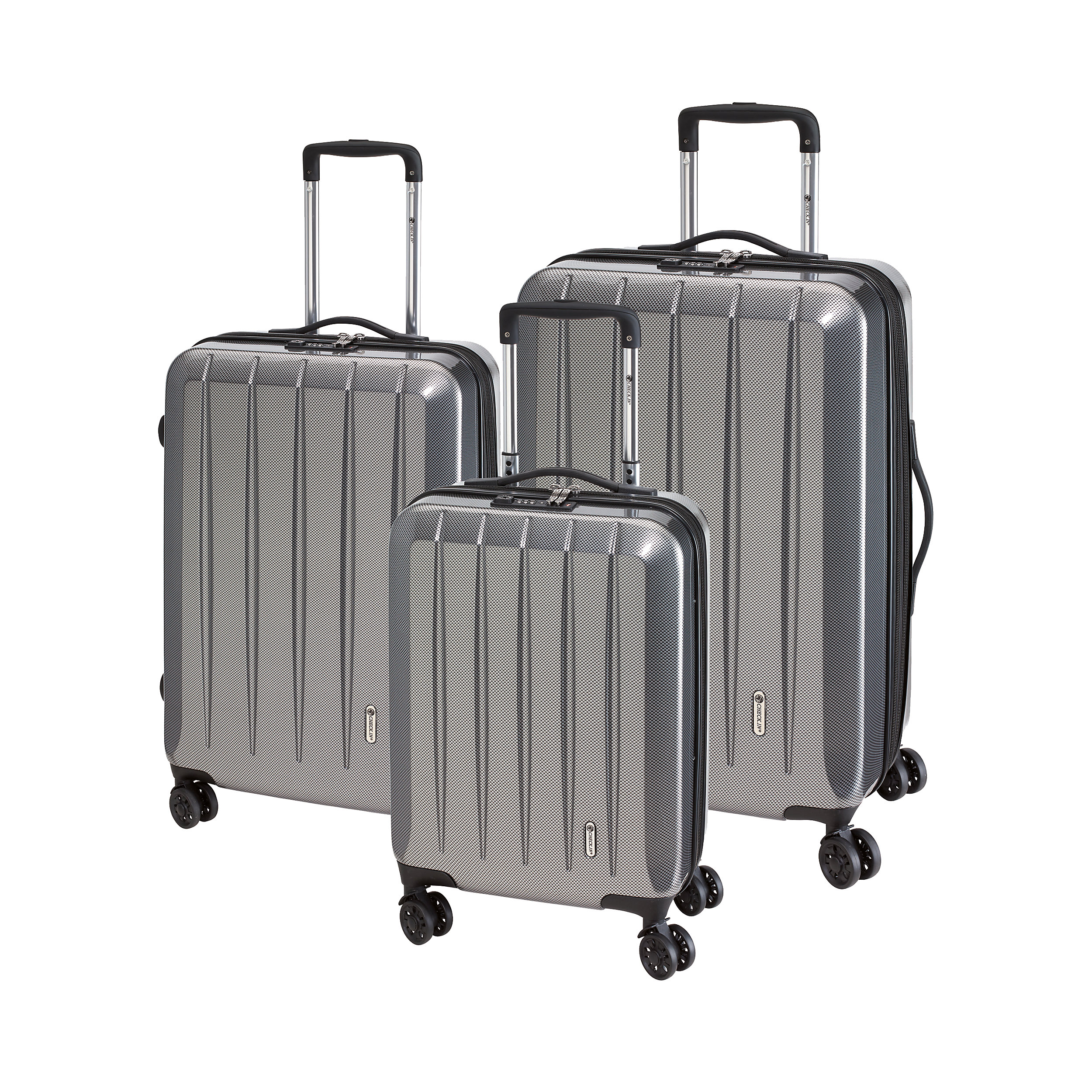 3-part Trolley Set with 4 wheels 55/67/75cm London 2.0 XXL 211 Liter