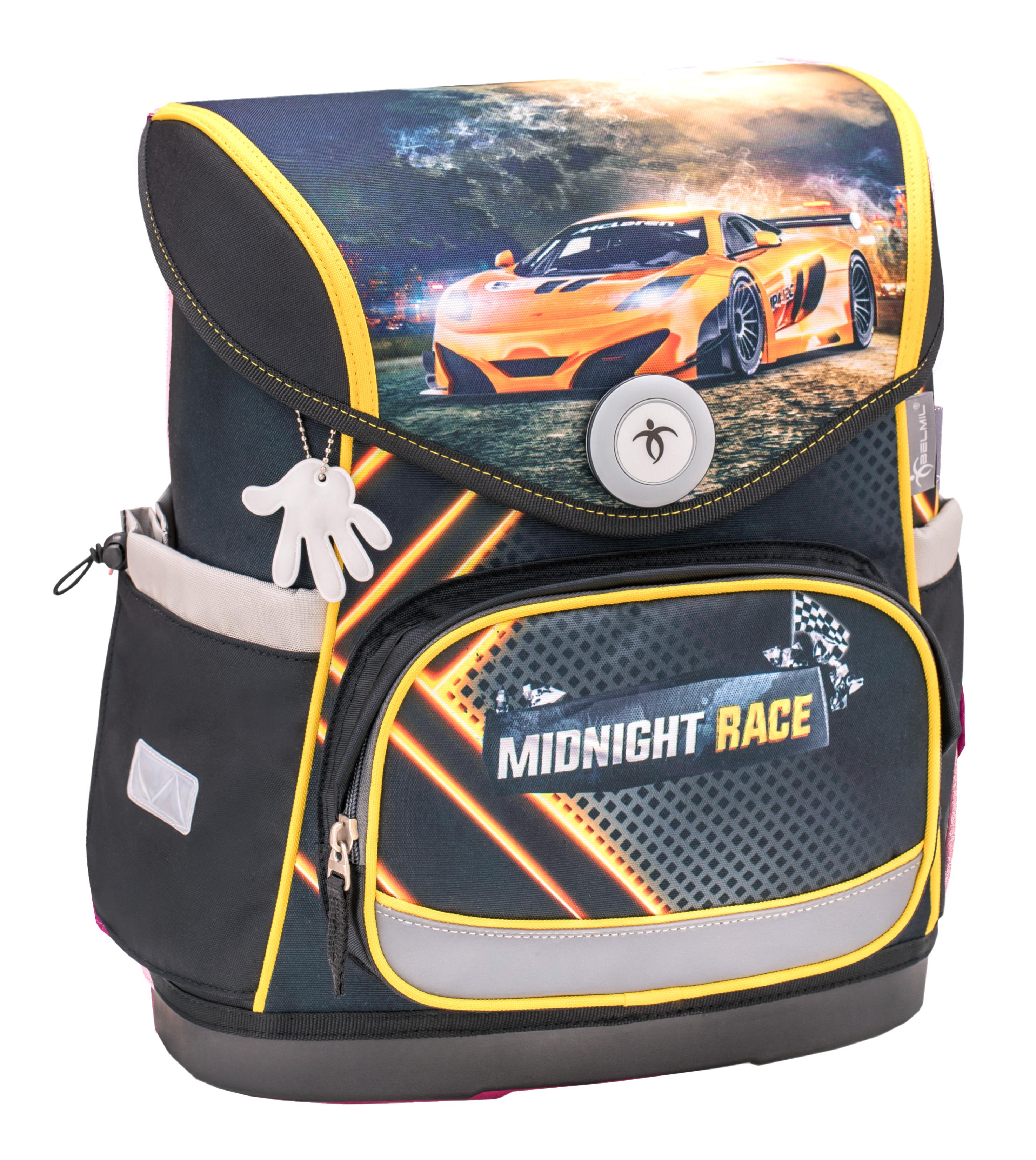 4-tlg. Schulranzenset Compact 19 Liter - Midnight Race