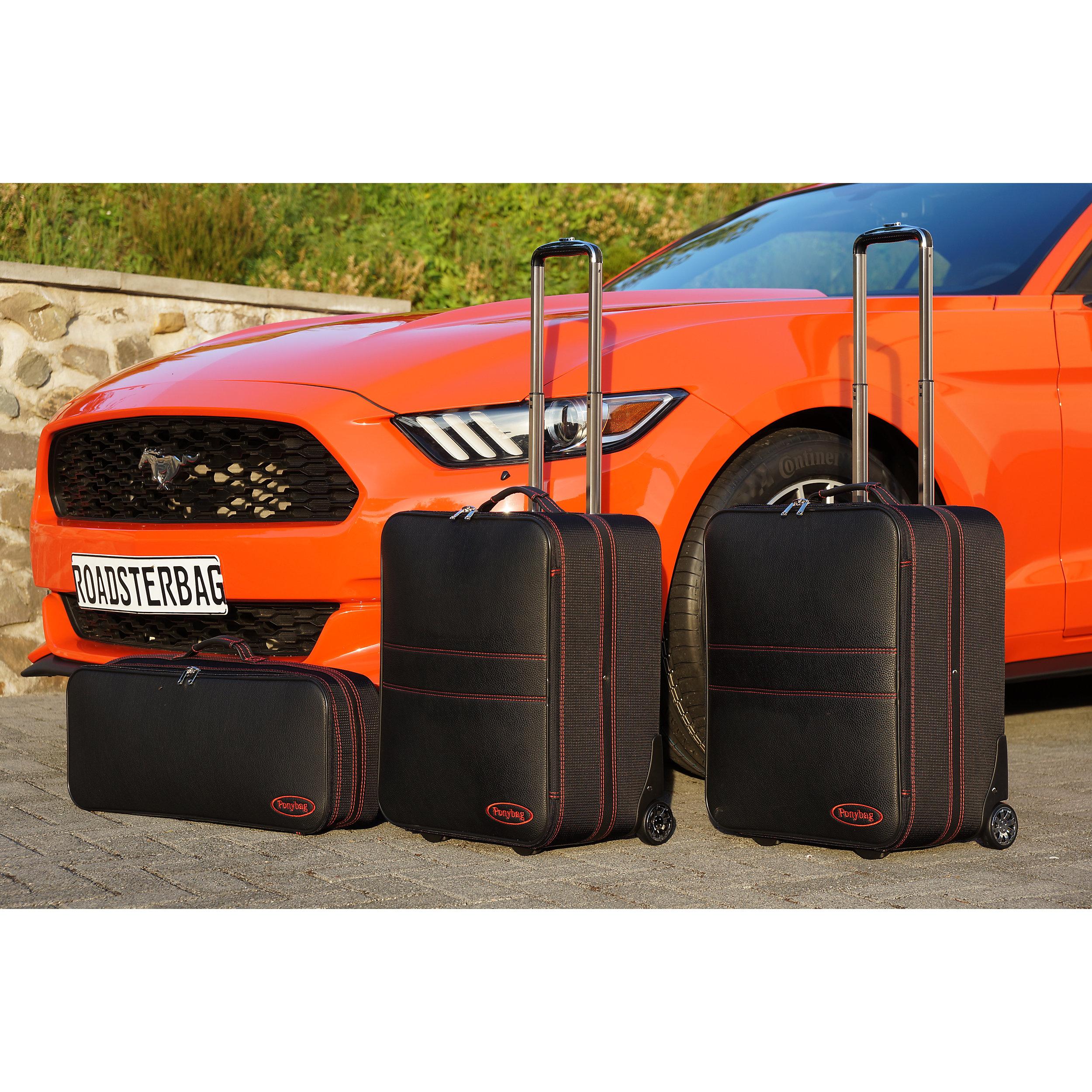 3-tlg. Kofferset mit 2 Rollen Ford Mustang Cabrio 2015 Ponybag