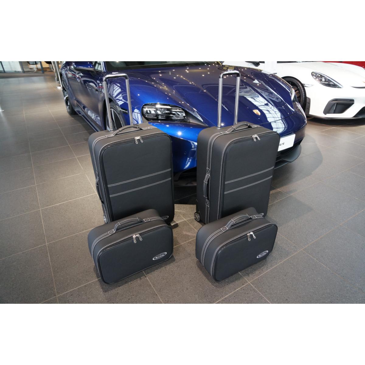 4-tlg. Kofferset Porsche Taycan back (133B) - Leder / Kunstleder