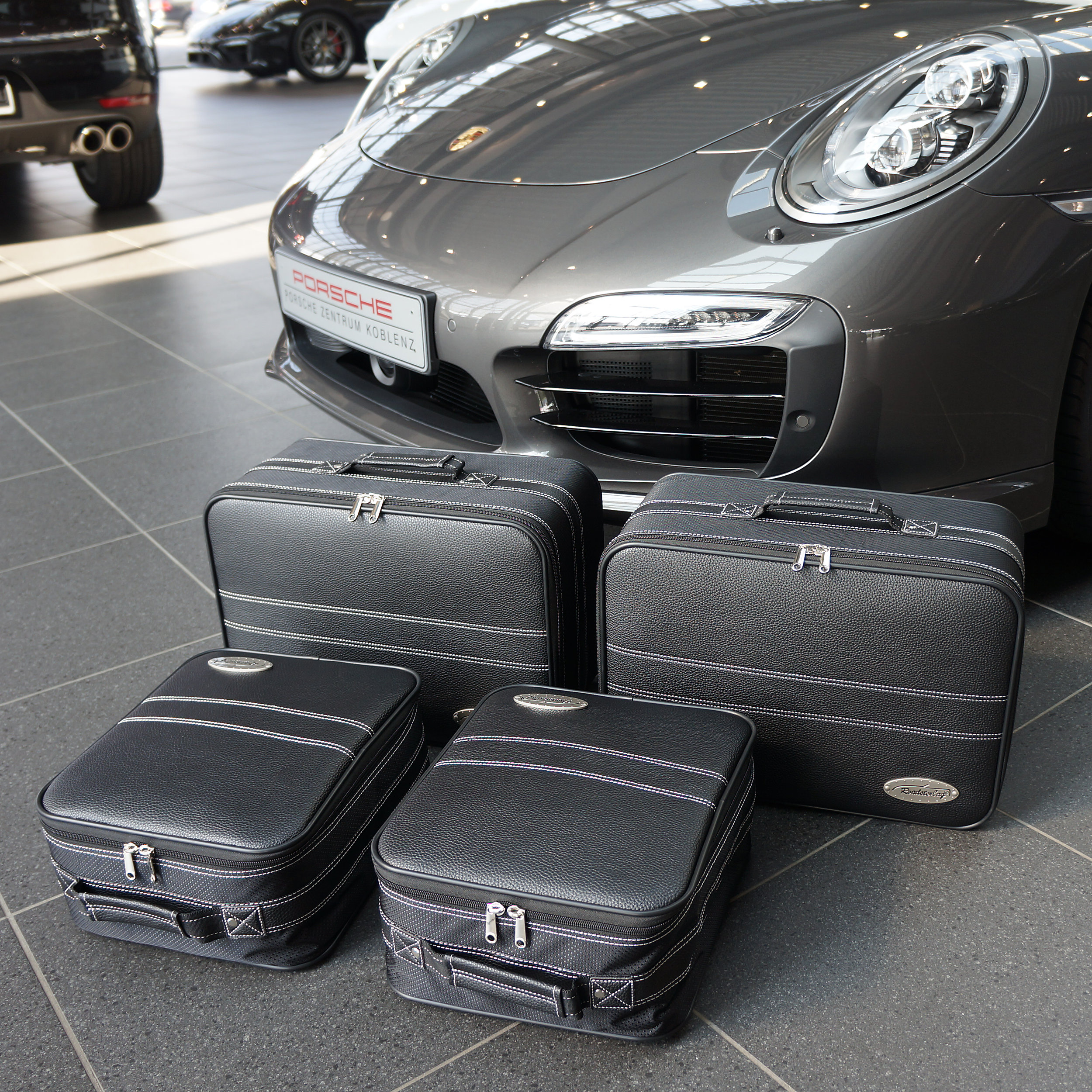 4-tlg. Kofferset Porsche 911 (991+996+997) G-Modell Teilleder XXL 83 Liter