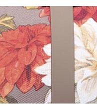 Vintage Floral/Pine Bark Rubber [03274]