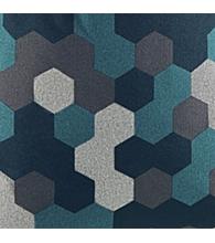 Blue Geometric Melange