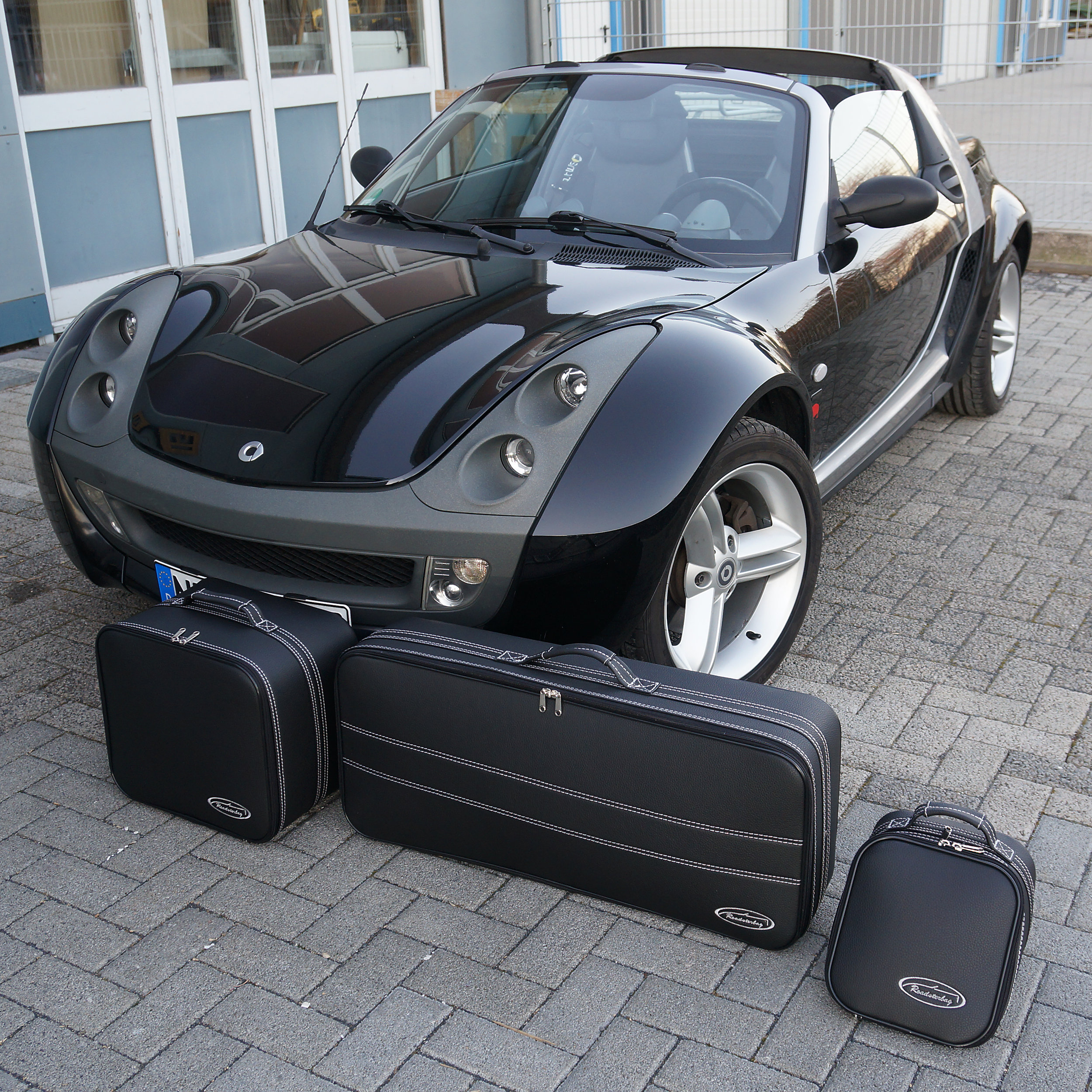 3-tlg. Kofferset Smart Roadster